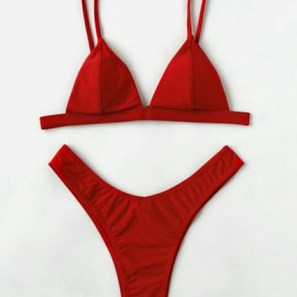 acc5a80d0d Two piece Red swim suit. M_5ae901f4077b97ea8f6d6da9